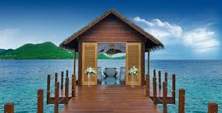 sandals jamaica wedding introducing the new overwater wedding chapel at sandals grande st