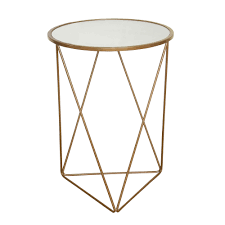 Triangle Accent Table Homepop Metal Accent Table Triangle Gold Base Glass Top