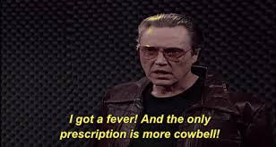Christopher Walken Cowbell Meme - christopher walken snl gif by saturday night live find share on