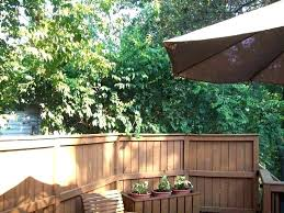 Inexpensive Backyard Privacy Ideas Backyard Privacy Ideas Simple Deck Pinterest