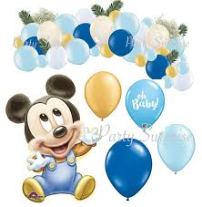 baby mickey mouse baby shower mickey mouse baby boy balloon package baby shower balloons baby