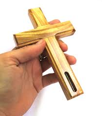 wood crucifix 14 cm olive wood crucifix with holy water inside pro2 10 00