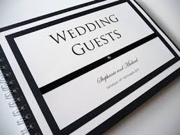 black wedding guest book black and white wedding guest book with simple classic black