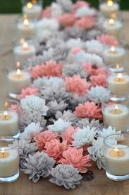 bridal decorations coral and grey mixed wooden flowers wedding decorations wedding