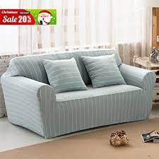 one piece stretch sofa slipcover amazon com uozzi cotton stretch sofa slipcover with 2 green pillow
