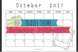 Travel Theme Travel Theme Calendar 2017 2018 U2013 Saved You A Spot