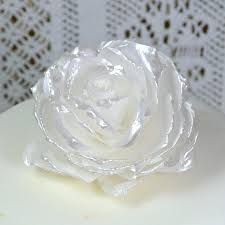 edible wedding cake decorations edible white pearl lustre 3d flowers wedding cake topper