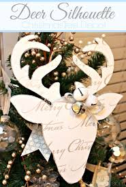 Diy Deer Christmas Decorations by Diy Christmas Reindeer U0026 8 Diy Reindeer Silhouettes The Golden