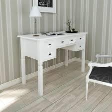bureau style romantique bureau blanc à 5 tiroirs achat vente bureau bureau blanc à 5