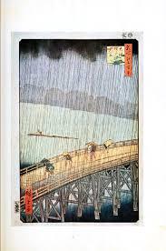 japanese woodblock prints rain art pinterest japanese