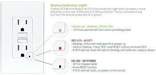 bathroom status indicator lights gfci red light status indicator lights gfci outlet red light