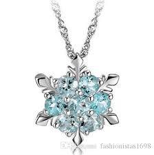 zircon blue necklace images Wholesale hot style blue zircon necklace silver plating zircon jpg