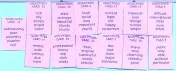 english adjective exercises english grammar vocabulary and