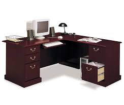 Computer Desk With Cabinets Furniture L Shape Bush Solid Cherry Corner Computer Desk Design
