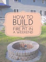 How To Build Fire Pit On Concrete Patio Best 25 Brick Fire Pits Ideas On Pinterest Diy Firepit Ideas