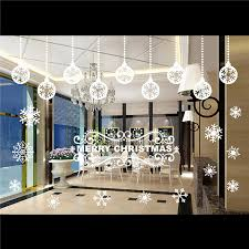 Christmas Ball Window Decorations by Christmas Decals Decor Home Store Removable Mural Glass Window