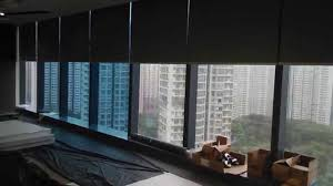 motorized roller blinds with blackout fabric 電動捲簾 youtube