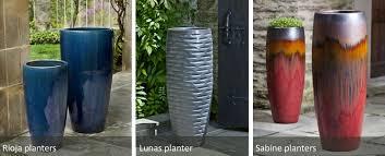 decor americano clay tall planters for garden furniture ideas