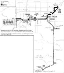 San Diego Mts Map by Route 815 816 Timetables