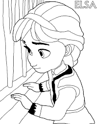 little elsa watching from window coloring pages coloring sky