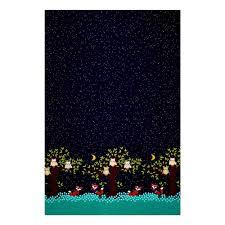michael miller fox woods border navy discount designer fabric