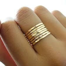 band gold hammered 7 band gold stacking ring set 69 00 via etsy wish