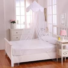 Sheer Bed Canopy Casablanca Pom Pom Collapsible Hoop Sheer Bed Canopy