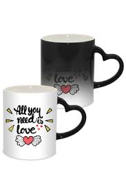 heart shaped mugs buy heart shaped coffee mugs online in india with custom photo