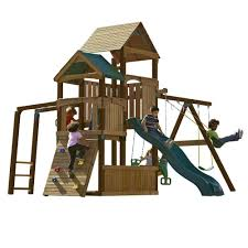outside playhouse plans playset add a touch of fun to your backyard with home depot