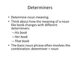 pre and post modification determiners and pronouns professor
