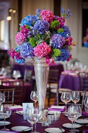 Silver Vases Wedding Centerpieces Wedding Decoration Beautiful Dining Table Decoration With Pink