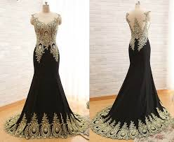 White Prom Dresses Sparkle Evening Dress Gold Beaded Prom Dresses