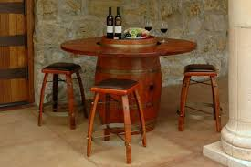 Wine Barrel Patio Table Wine Barrel Furniture At American Country Home Store American