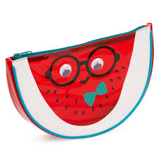 watermelon emoji slice watermelon wash bag