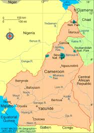 map of cameroon yaounde map