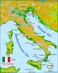 Map Of Capri Italy by Map Of Italy Map In The Atlas Of The World World Atlas