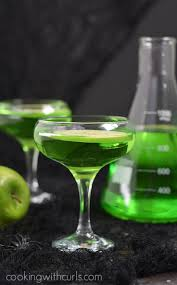 green apple martini bottle poisoned apple cocktail cooking with curls