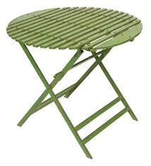 metal folding table outdoor metal folding round garden table in green 90cm metal folding round