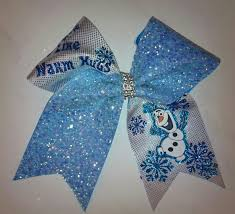 cheer bows uk frozen olaf glitter cheerleading bow www cheerbow co uk 9 with
