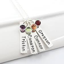 grandmother necklace buy a custom made of four personalized sted bar