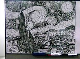 whiteboard black and white starry night the mary sue