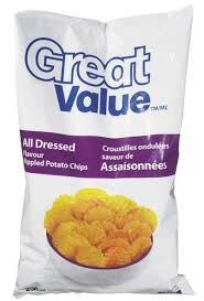 ripples chips great value all dressed rippled potato chips 1 large