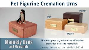 figurine pet urns for ashes wood pet cremation urns youtube
