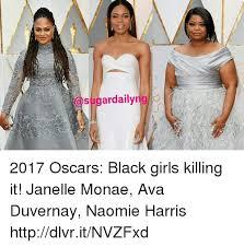 Black Girl Wedding Dress Meme - ae sugardailyriglo 2017 oscars black girls killing it janelle monae