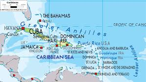 Caribbean Ocean Map by Physical Map Of Caribbean Ezilon Maps