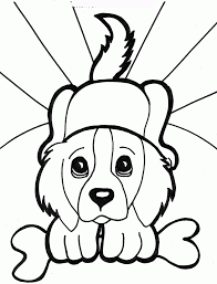 pet printable picture coloring pages of little dogs and little