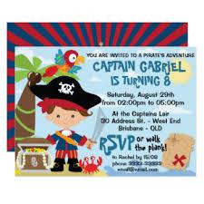 pirate birthday cards u0026 invitations zazzle co uk