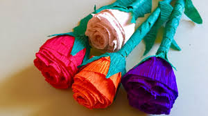 crepe paper rose flowers bunch arts and crafts crepe paper