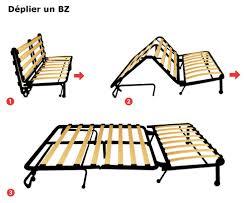 mécanisme canapé convertible canapé bz méthode de pliage dépliage et prix ooreka