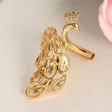 finger ring design tengyi cheap engagement rings gold color peacock finger ring for